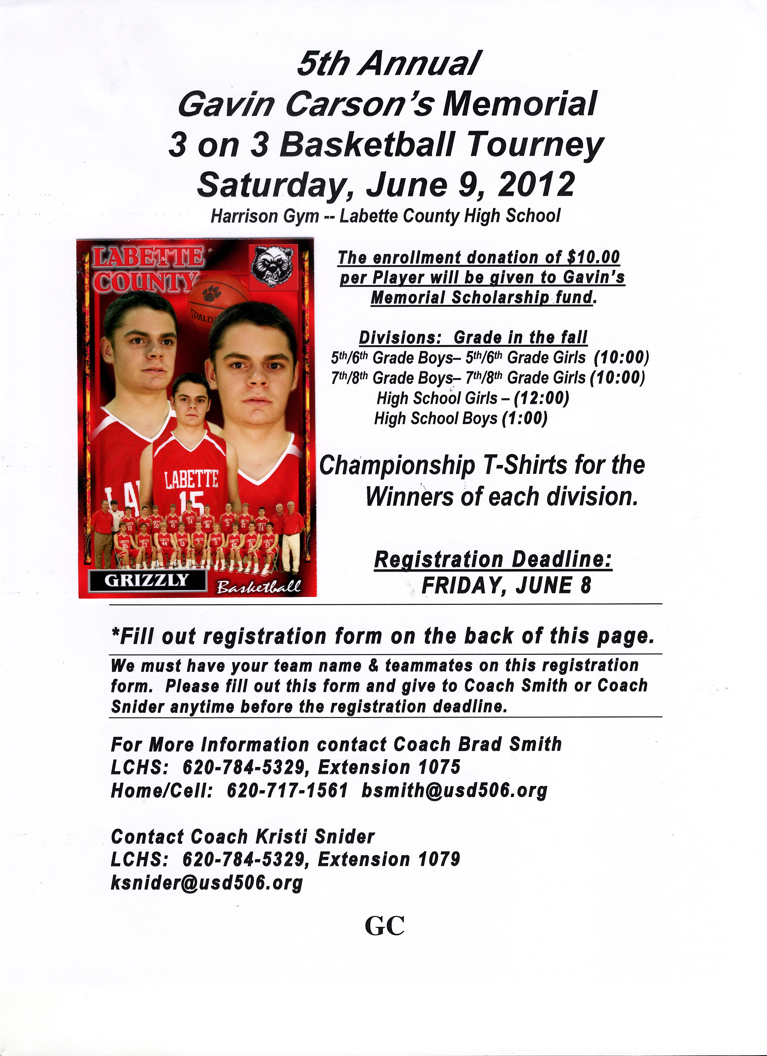 Labette county usd 506 5th annual gavin carsons memorial 3 on 3 5th annual gavin carsons memorial 3 on 3 basketball tournament inserted image registration form sciox Gallery